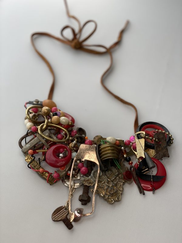 assorted junk necklace