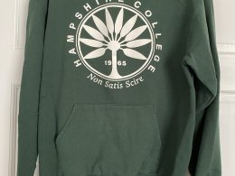 Green 1965 vintage Hampshire College hoodie
