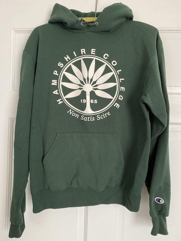 Green 1965 vintage Hampshire College hoodie