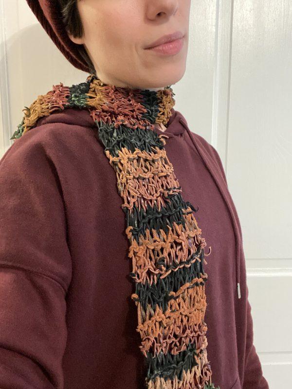 Handmade leather scarf