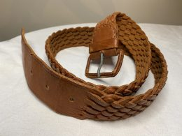 vintage braided leather belt in beautiful condition