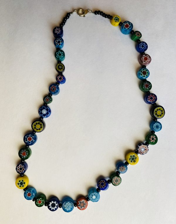 Flower Girl Necklace made of glass beads